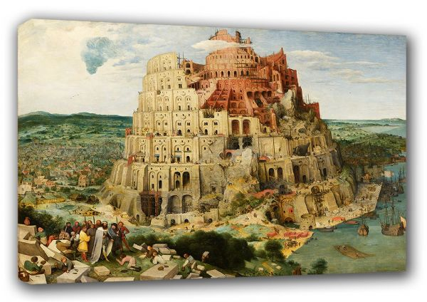 Bruegel the Elder, Pieter: The Tower of Babel. Fine Art Canvas. Sizes: A3/A2/A1 (00403)